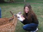 Guest with fawn